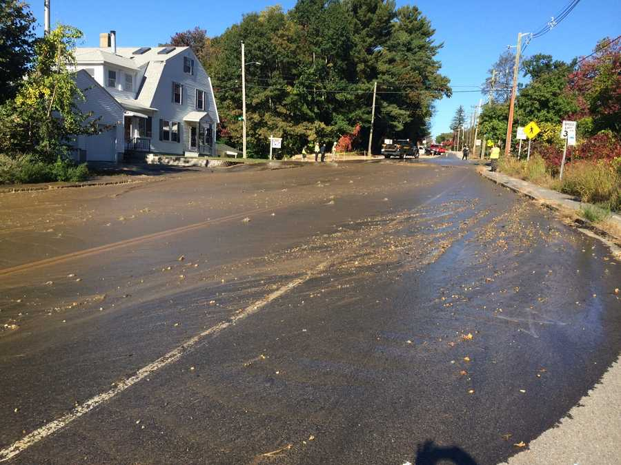 A major water main break flooded Manchester streets Wednesday morning.