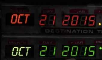 Marty McFly and Doc Brown travel to Oct. 21, 2015 in Back to the Future II.