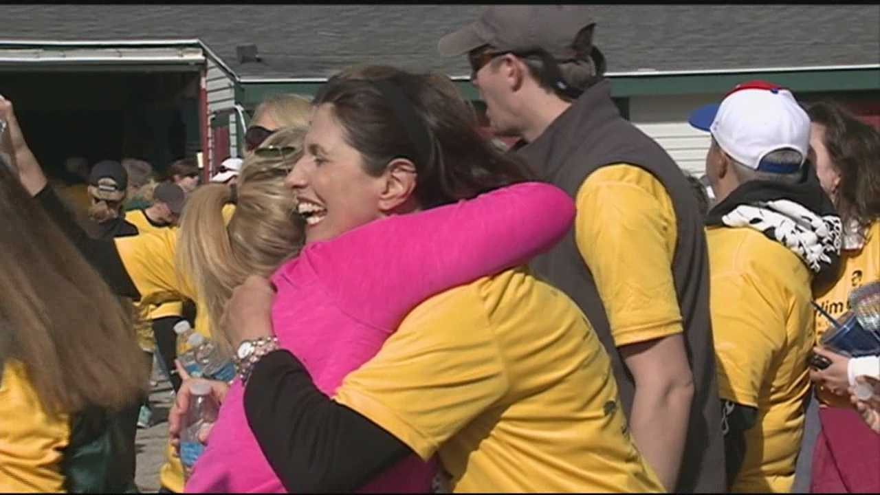 "More than a thousand runners and walkers participated in the first ""Foley 5K"" in Rochester, home of James Foley, a journalist who was held hostage and killed by ISIS in Syria."