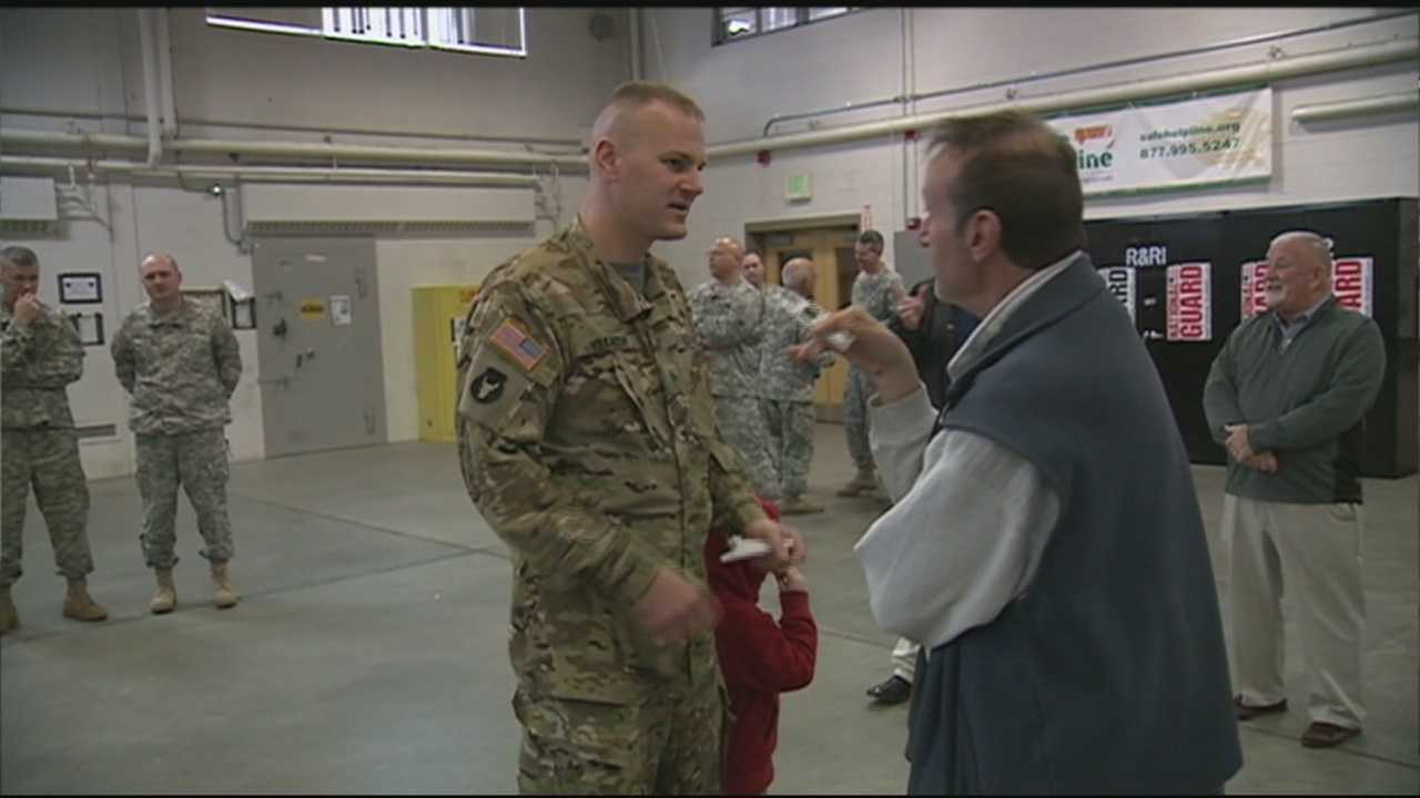 Family and friends held a welcome home ceremony in Concord Saturday for the New Hampshire National Guard's Detachment 18.