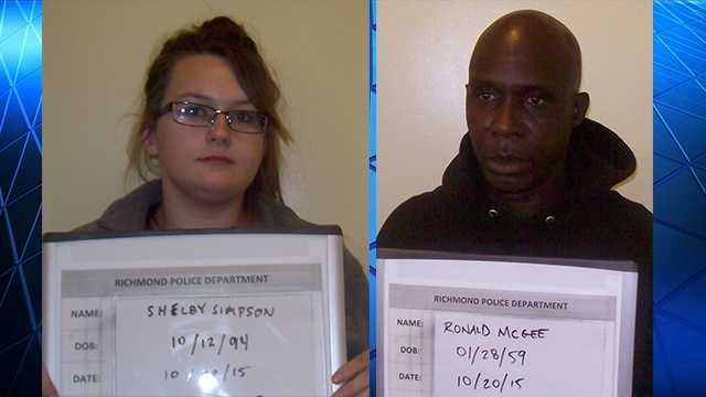 Shelby Simpson, 21, and Ronald McGee, 55, bothof Richmond