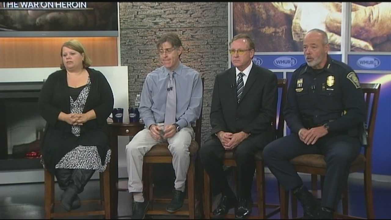 Doctors, law enforcement officials, parents and students came together Thursday for a special forum on the heroin epidemic hosted by WMUR.