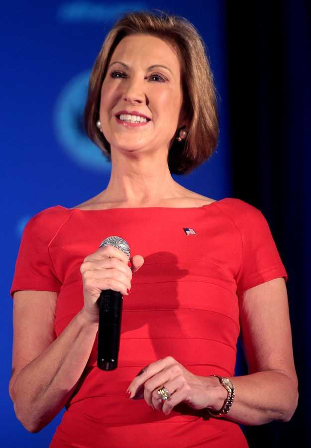 How old is Carly Fiorina? She is 61 years old.