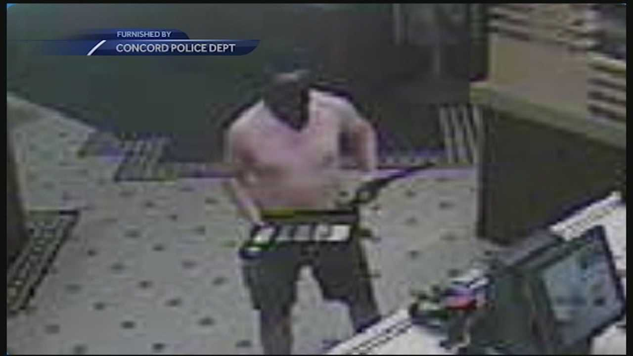 Police are seeking the public's help in identifying a shirtless, masked man who robbed a McDonald's restaurant in Concord early Friday morning.