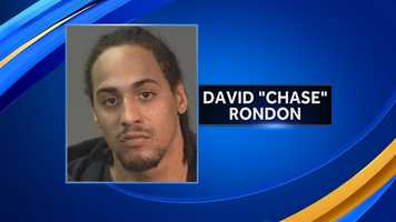 """Manchester police are searching for David """"Chase"""" Rondon, who they say shot another man in the foot on Monday."""
