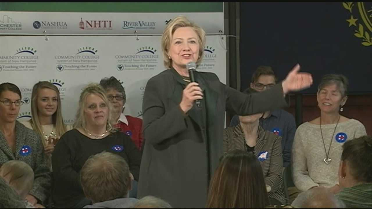 Democratic presidential candidate Hillary Clinton spoke Thursday to college voters in Berlin as part of a two-day trip to New Hampshire.