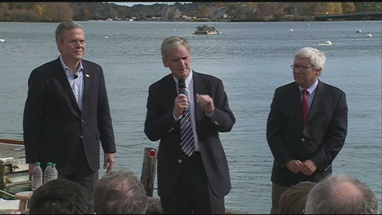Former U.S. Sen. Judd Gregg, a longtime friend of the Bush family, endorsed former Florida Gov. Jeb Bush in Portsmouth Thursday afternoon.