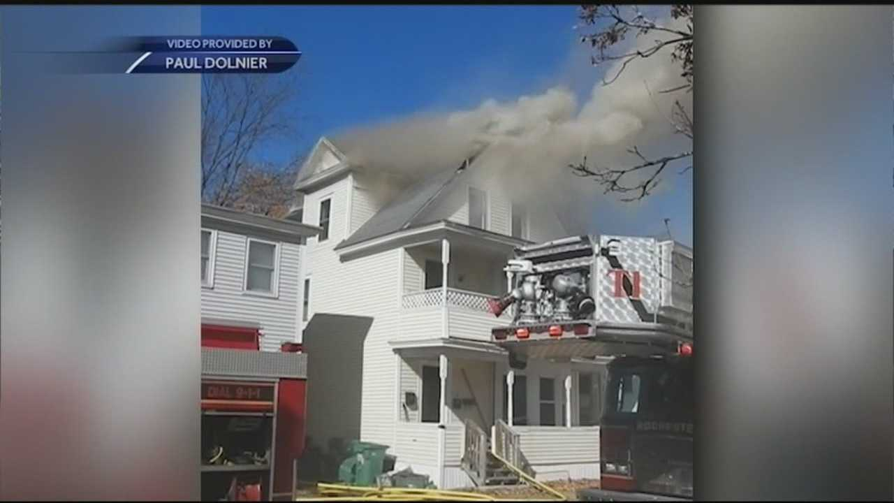Five people in Rochester were displaced Friday afternoon after a fire in their apartment building.