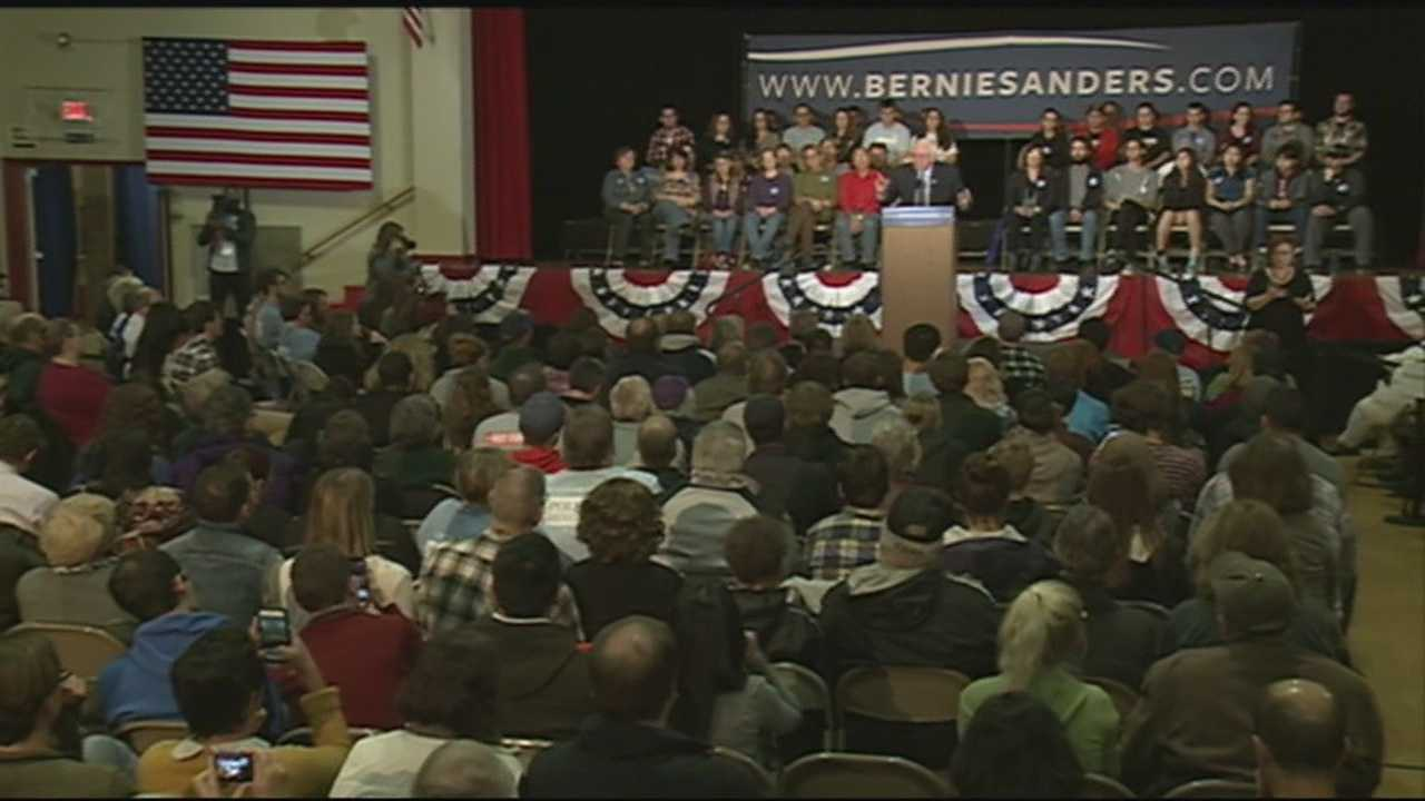 Senator Bernie Sanders hosts a town hall at Pinkerton Academy in Derry.