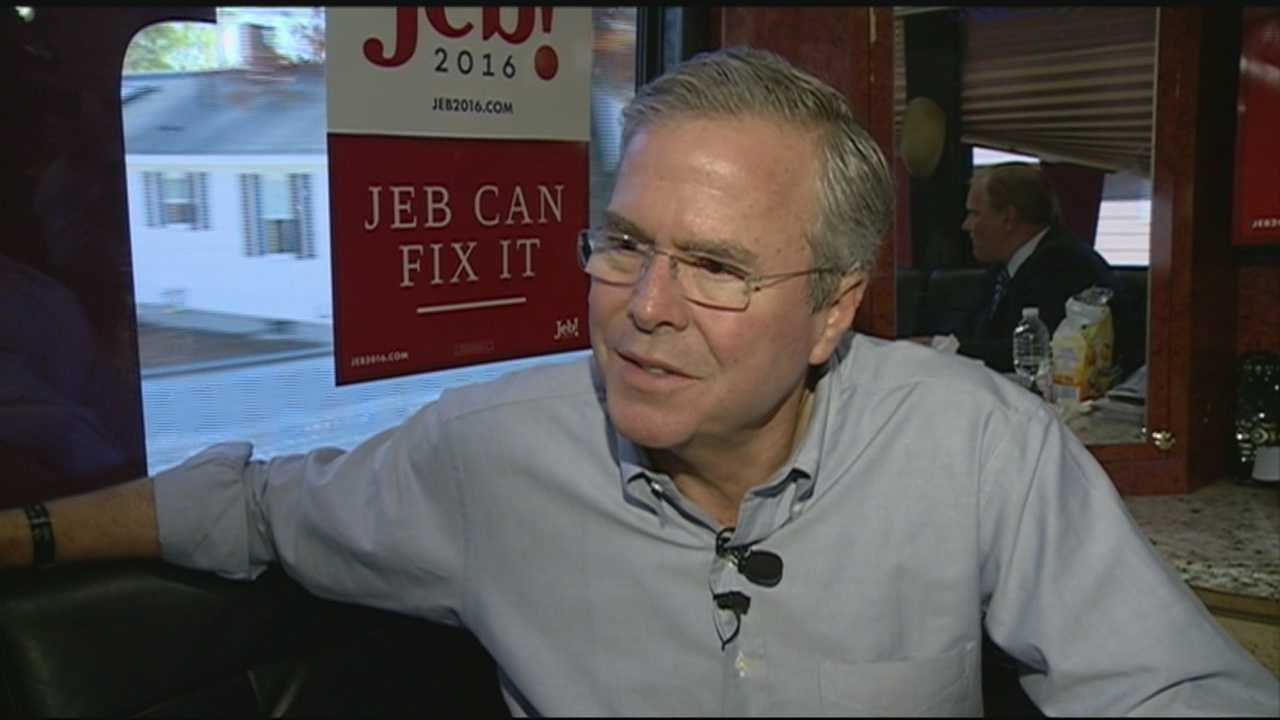 In a trip to New Hampshire, Republican presidential candidate Jeb Bush said he's not meeting his own expectations as a candidate, but he promises to get better.