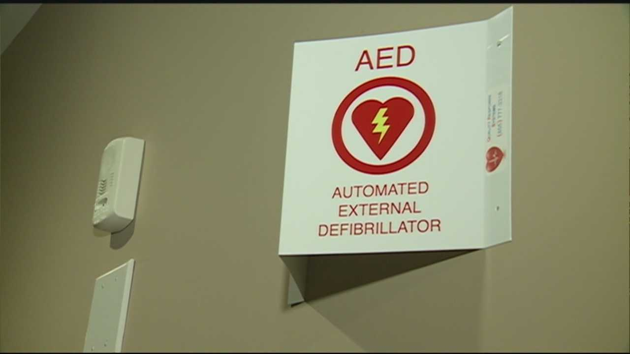 Automated external defibrillators -- or AEDs -- were placed in two fraternity houses at the University of New Hampshire Sunday night.