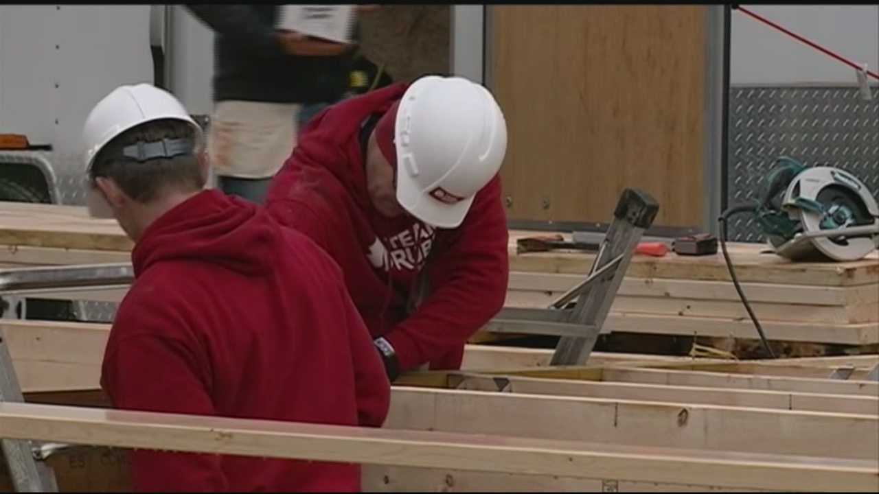 Work has begun in Rochester on a project to provide a new home for a veteran and his family.