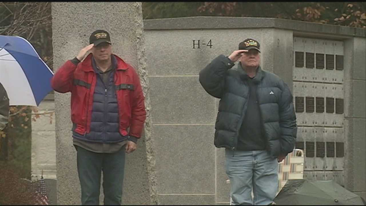 Veterans were honored Wednesday at the annual Veterans Day ceremony at the state cemetery in Boscawen.