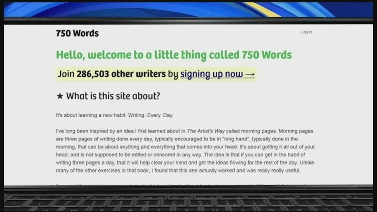 In today's Tech Talk, we take a look at a website that offers a fun and easy way to flex your writing muscles, while offering some insight into your state of mind.