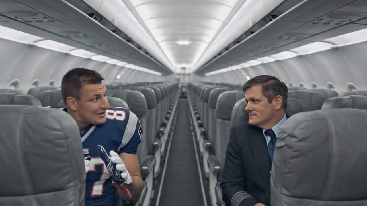Rob Gronkowski starred in this JetBlue commercial in 2015.