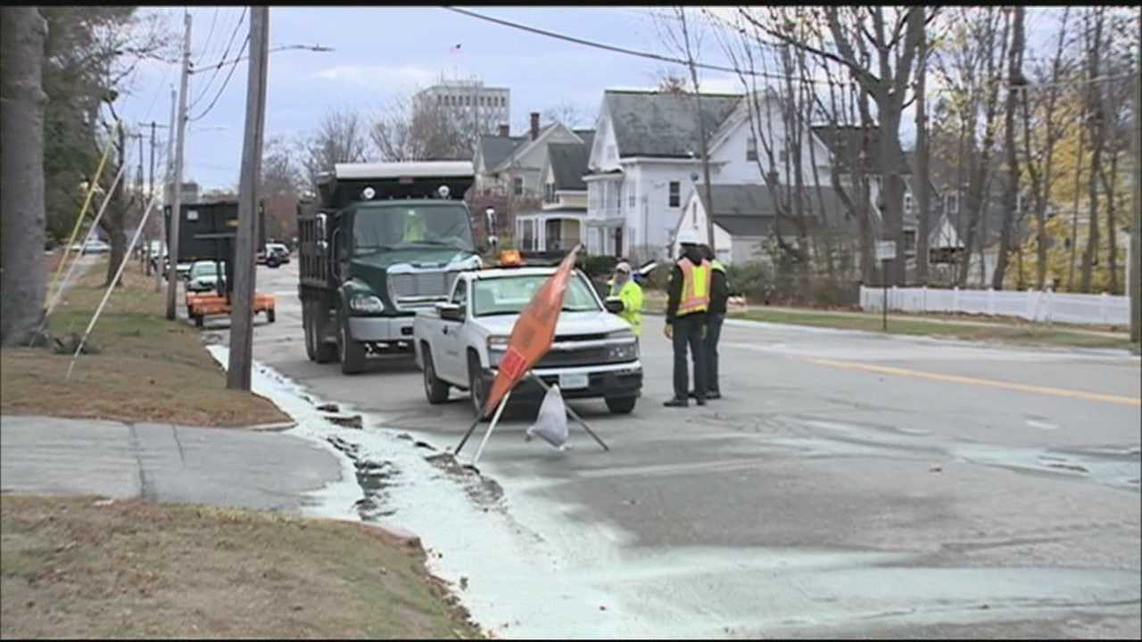 Crews spent most of the day Saturday repairing a water main break in Manchester.