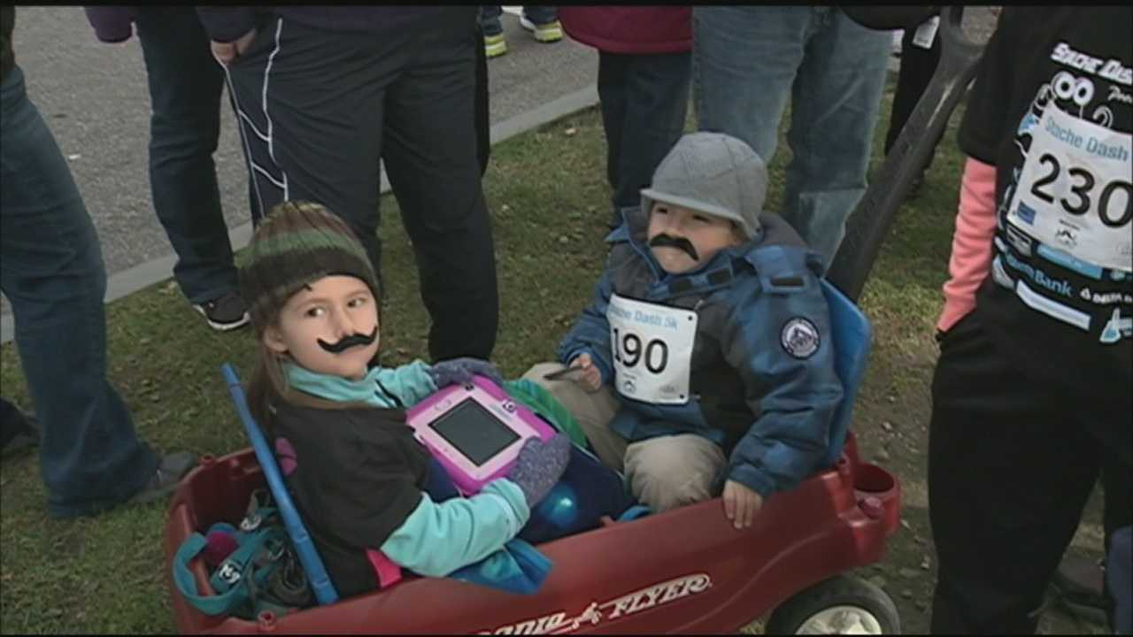Dozens of people laced up their sneakers and put on a mustache to raise awareness for prostate cancer.