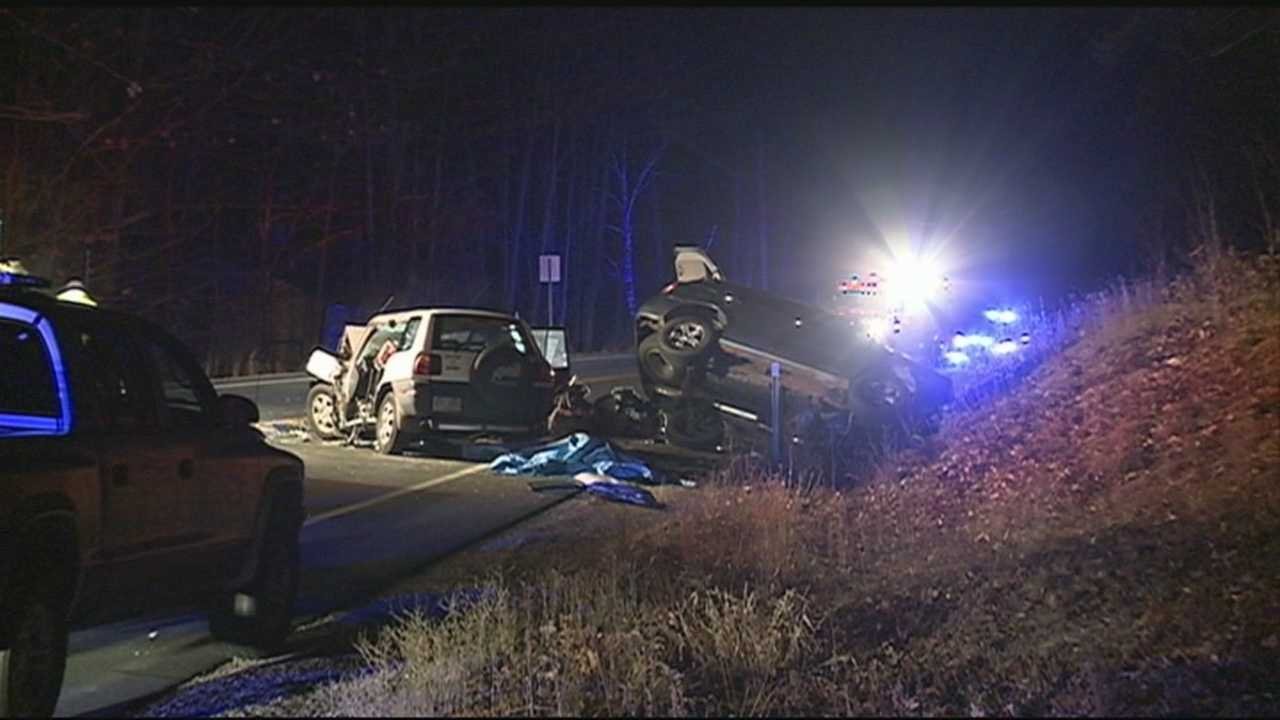 State police are investigating the cause of a head-on crash in Antrim.