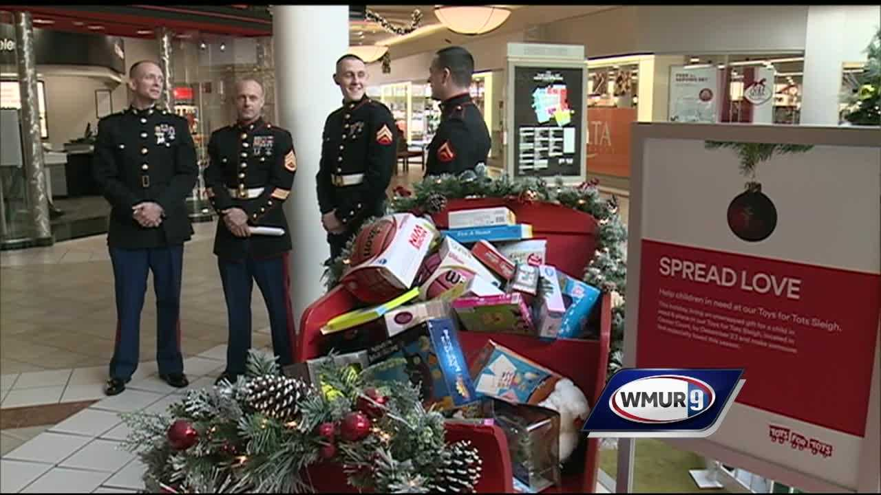 The annual Toys for Tots campaign kicked off Tuesday morning at the Mall of New Hampshire, and toys are already coming in.