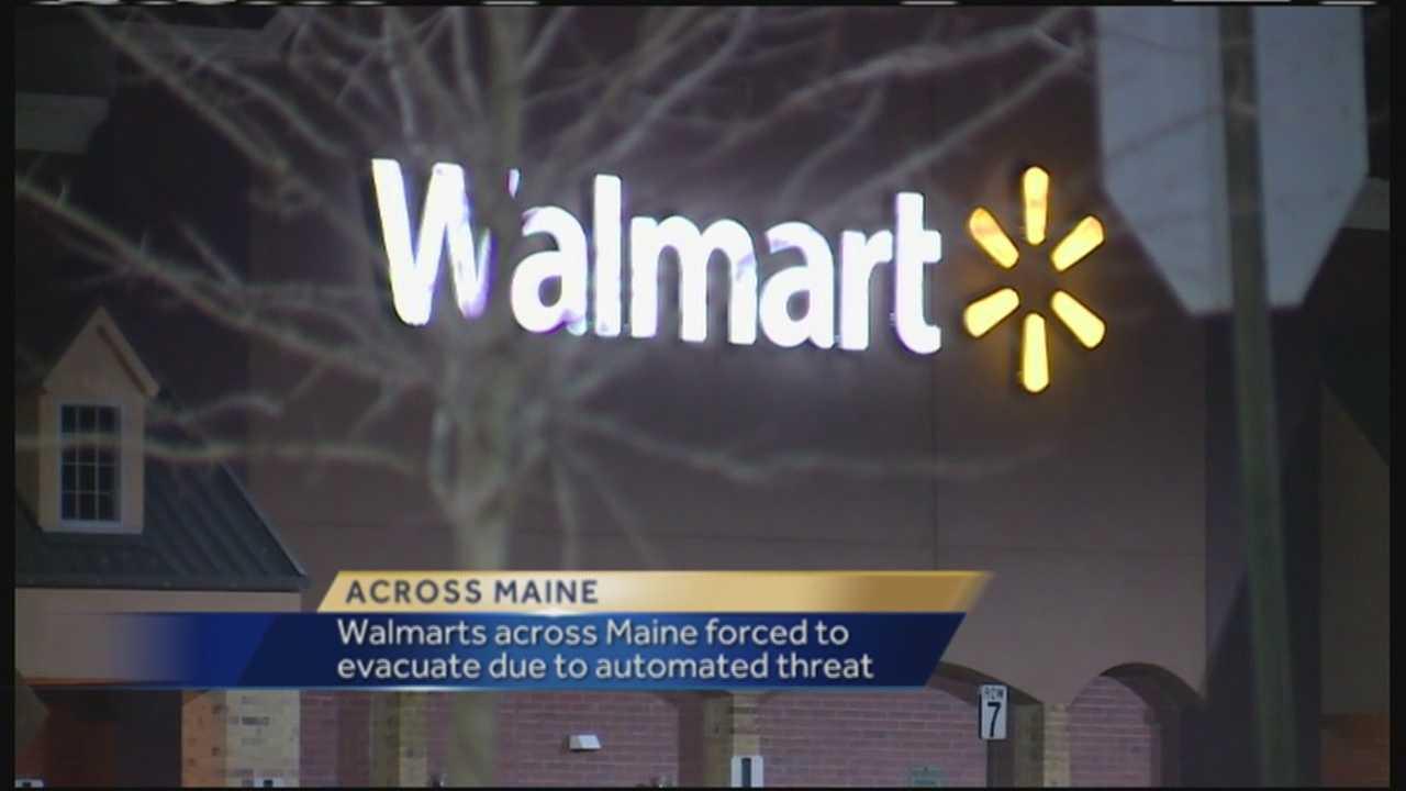 several walmart locations evacuated across maine