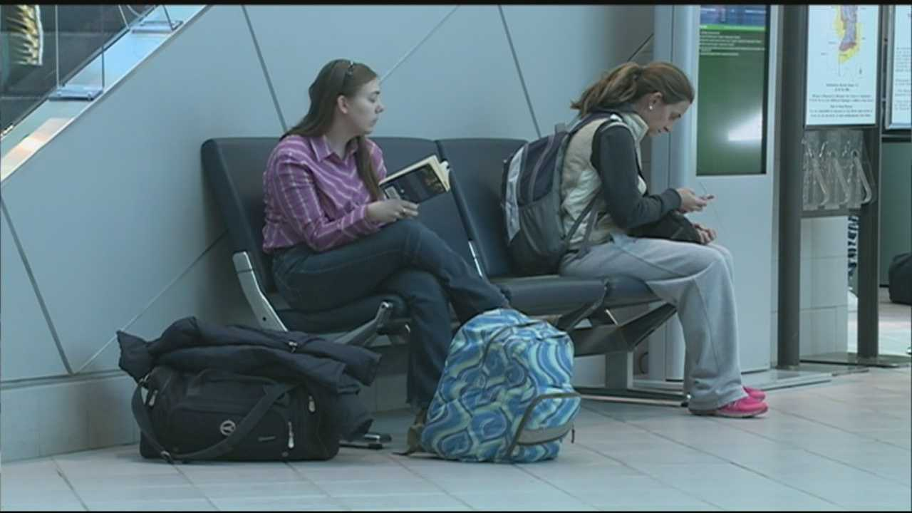 The Manchester-Boston Regional Airport was busy Sunday as the holiday weekend comes to a close.