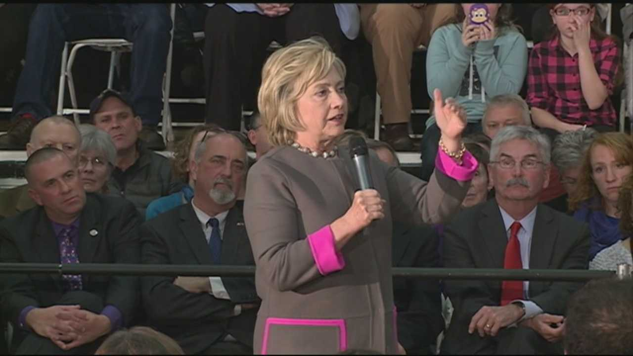 Democratic presidential candidate Hillary Clinton spoke to voters in Dover Thursday night.