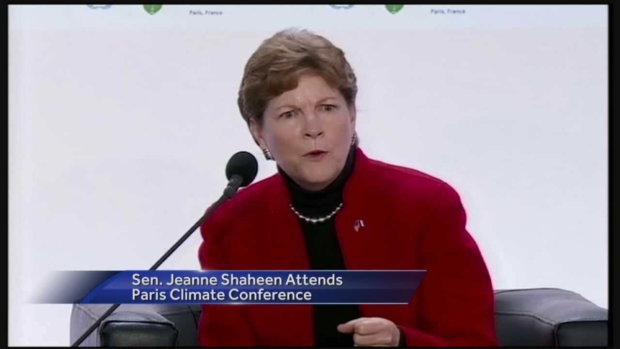 Sen. Jeanne Shaheen attends summit on climate change in Paris.