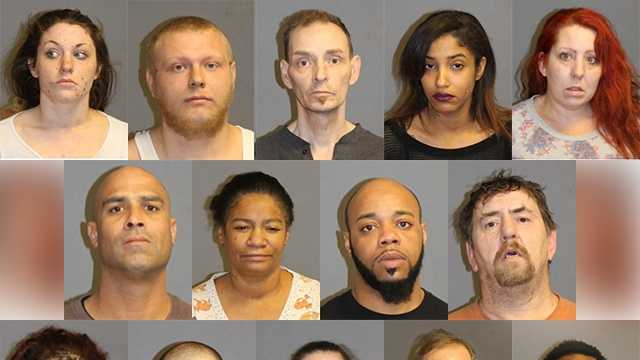 Nashua police arrested 14 people this week in connection with the distribution of drugs in the city this week.