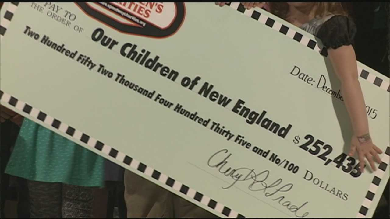 A very special holiday gift was handed out Thursday and it will benefit thousands of kids across New England.