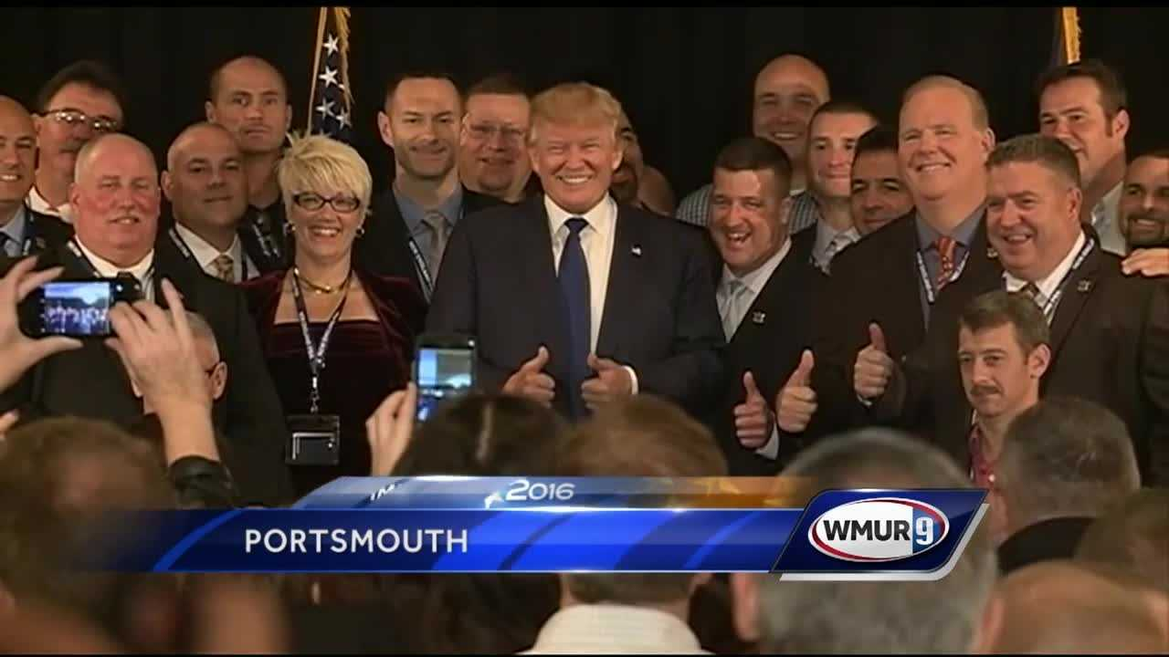 Republican presidential candidate Donald Trump has received the endorsement of a New England union that represents police and corrections officers.