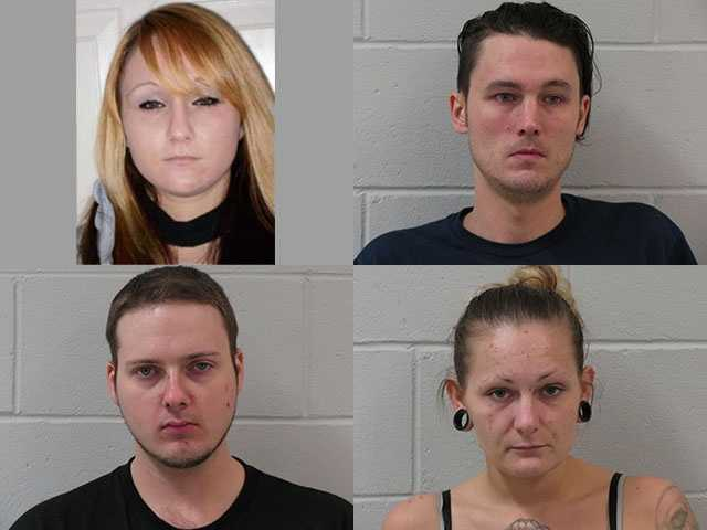 Local, state and federal officials arrested four people last Thursday in connection with sales of heroin and cocaine in the Keene area.