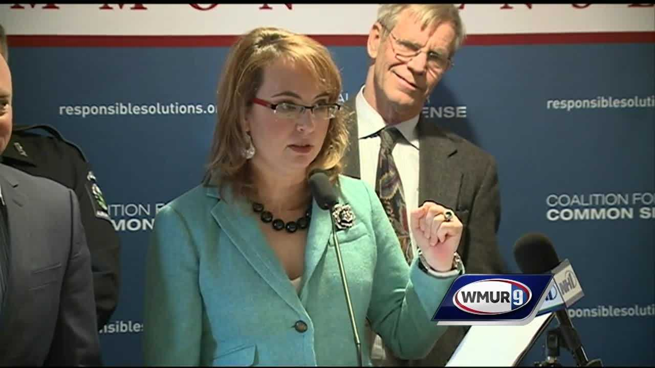 Former U.S. Rep. Gabrielle Giffords visited New Hampshire on Tuesday to kick off a new campaign to curb gun violence.