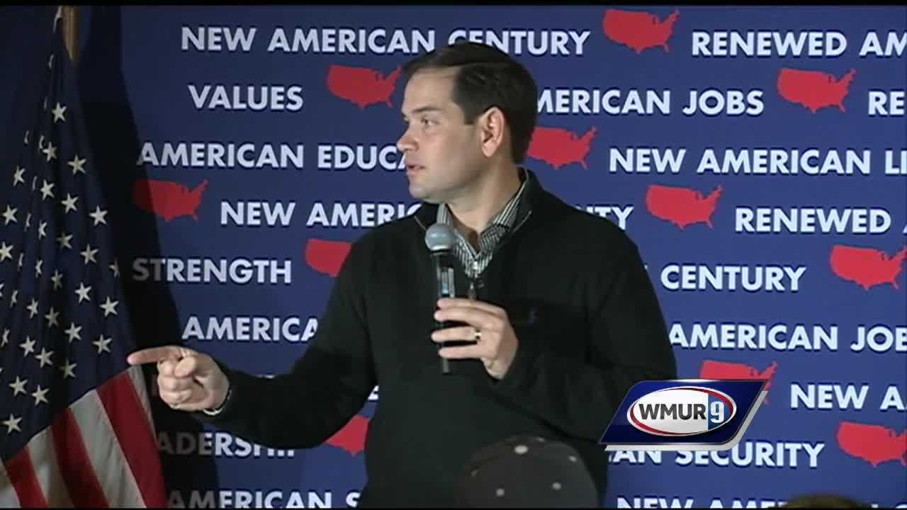 Republican presidential hopeful U.S. Sen. Marco Rubio visited New Hampshire on Wednesday, less than 24 hours after squaring off in the last Republican debate of 2015.