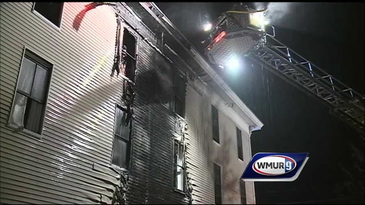 Crews from several towns responded Thursday evening to a two-alarm fire at a building in Farmington.