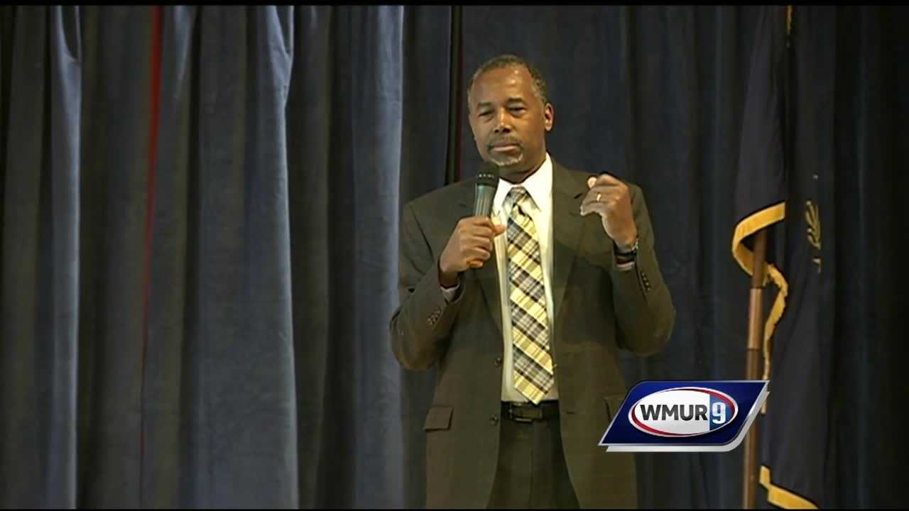 Ben Carson discussed the national debt, the economy and taking down the current administration at Keene State College on Sunday.