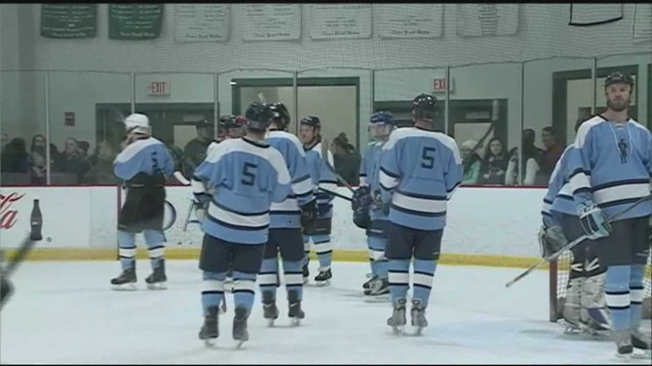 The loved ones of a Dover man who died in a car crash one year ago remembered him at a hockey game Saturday night.