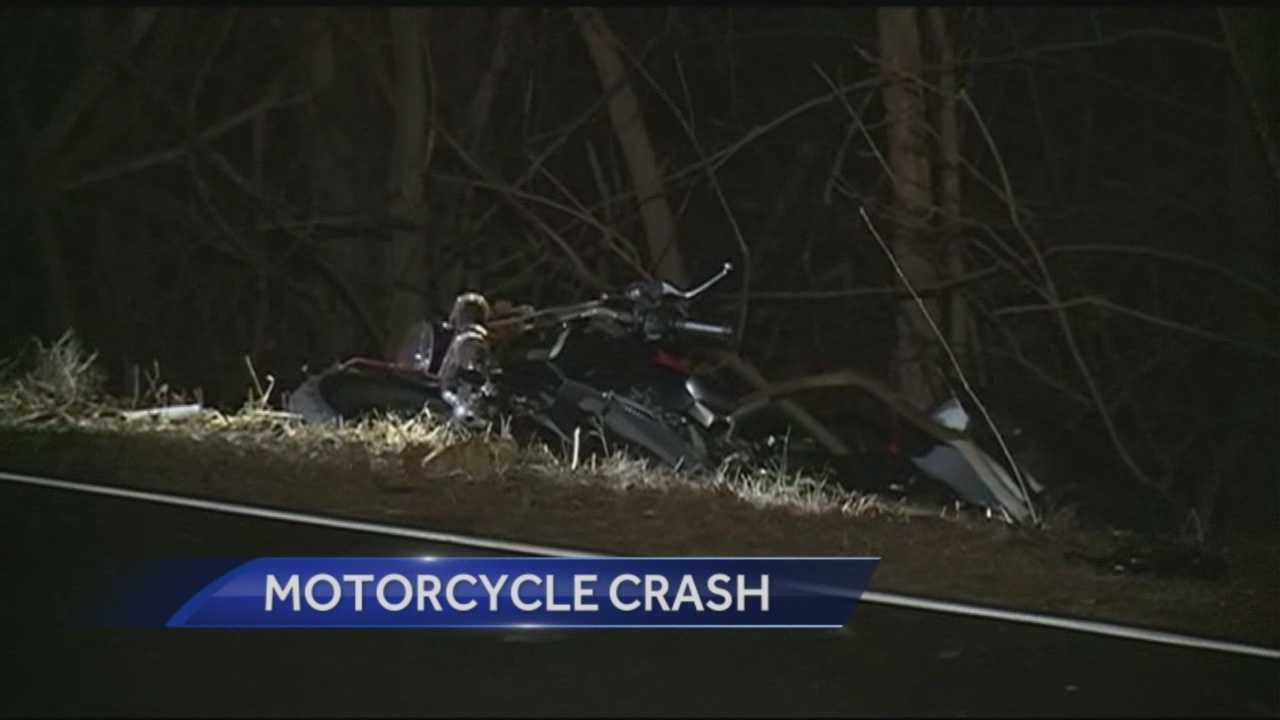 Motorcyclist was air lifted to Mass General Hospital with life threatening injuries after crashing his motorcycle in Hudson.