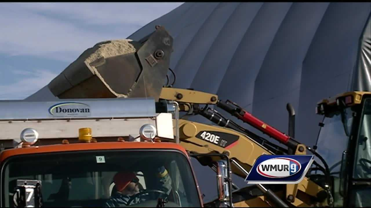 Preparations are underway in Manchester ahead of the first statewide snowstorm of the season.