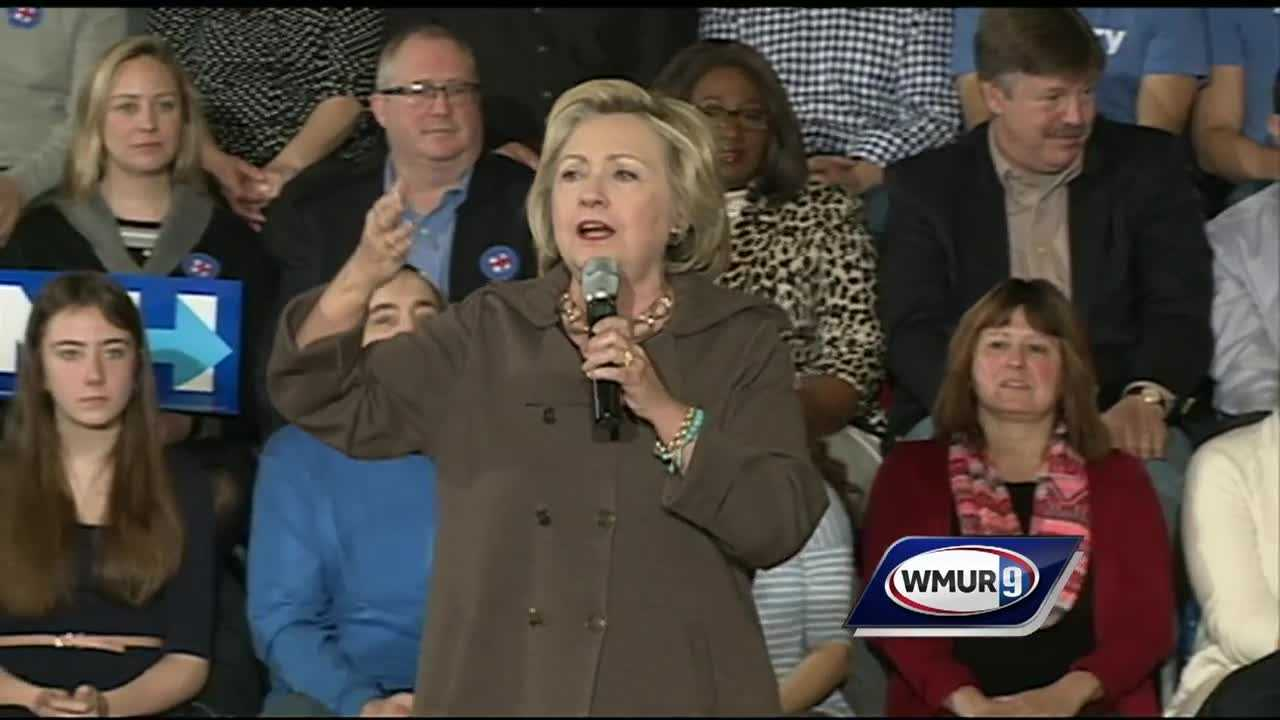 Hillary Clinton packed the auditorium inside the Gilbert H. Hood Middle School in Derry for a town hall meeting Sunday afternoon.