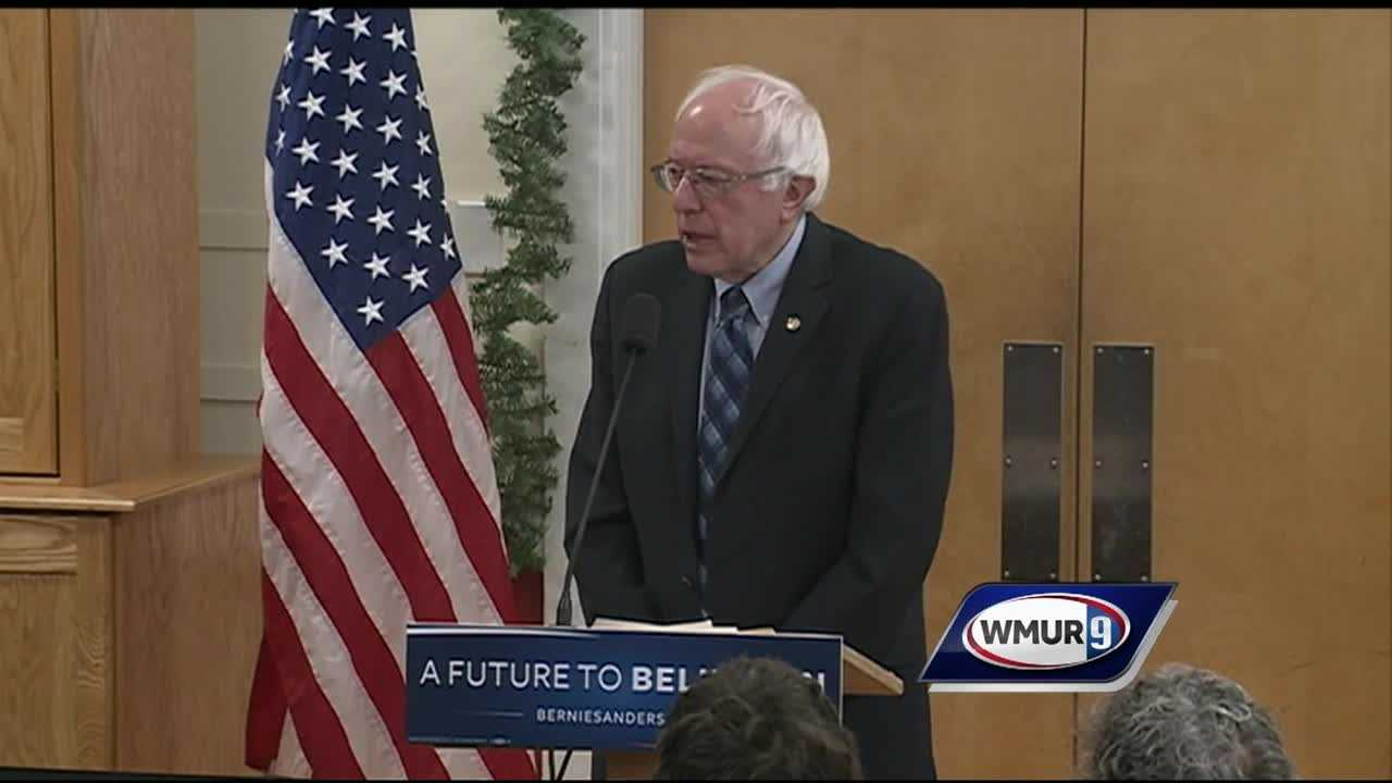 Just six miles away from where Hillary Clinton held an event in Derry Sunday morning, Sen. Bernie Sanders held a round table on senior issues in Londonderry.