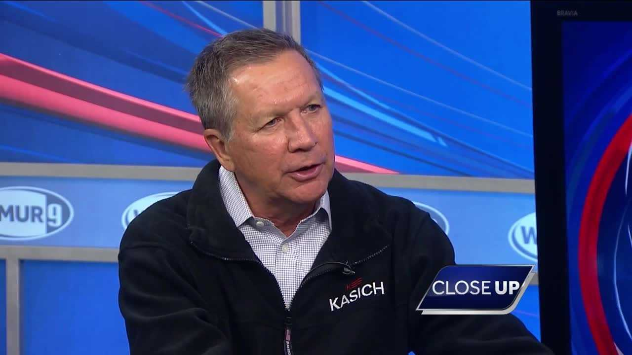 Republican presidential candidate John Kasich sits down with Josh McElveen on CloseUP.
