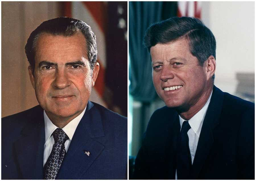 1960 NH Primary winners: Republican Vice President Richard Nixon (left) and Democrat Senator John f. Kennedy (right)Both Nixon and Kennedy were chosen as their respective party's presidential nominee. Kennedy moved on to win the presidency.