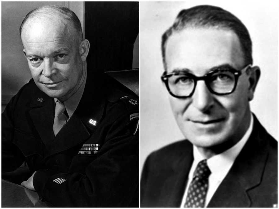 1952 NH Primary winners: Republican Dwight D. Eisenhower (left) and Democrat Sen. Estes Kefauver (right). Eisenhower ended up winning the Republican nomination and presidency. Kefauver was not his party's nominee.