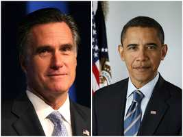 2012 NH Primary winners: Republican Governor Mitt Romney (left) and Democratic President Barack Obama (right)Romney and Obama became their party's nominee. Obama ends up serving a second-term.