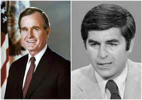 1988 NH Primary winners: Republican Vice President George H. W. Bush (left) and Democrat Governor Michael Dukakis (right)Bush won the Republican party's nomination and the presidency. Dukakis was selected as the Democratic presidential nominee.