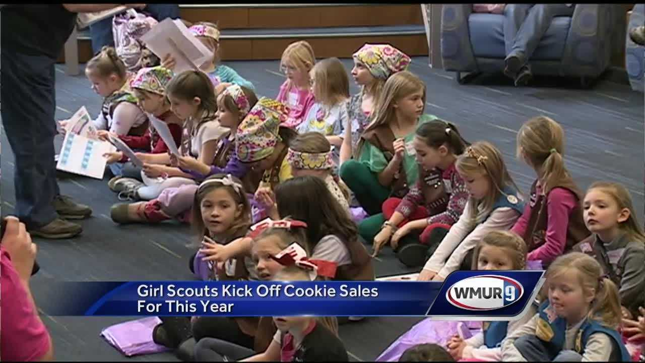 Girl scout troops begin their cookie sales for this season.