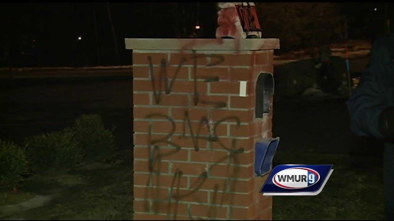 A neighborhood in Salem has been hit by vandals with spray paint for a second time.