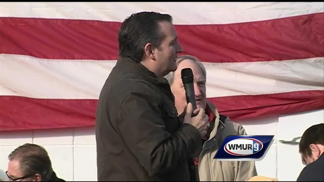 Riding a late surge in the polls, Texas U.S. Sen. Ted Cruz visited New Hampshire on Tuesday and spoke at a Second Amendment rally.