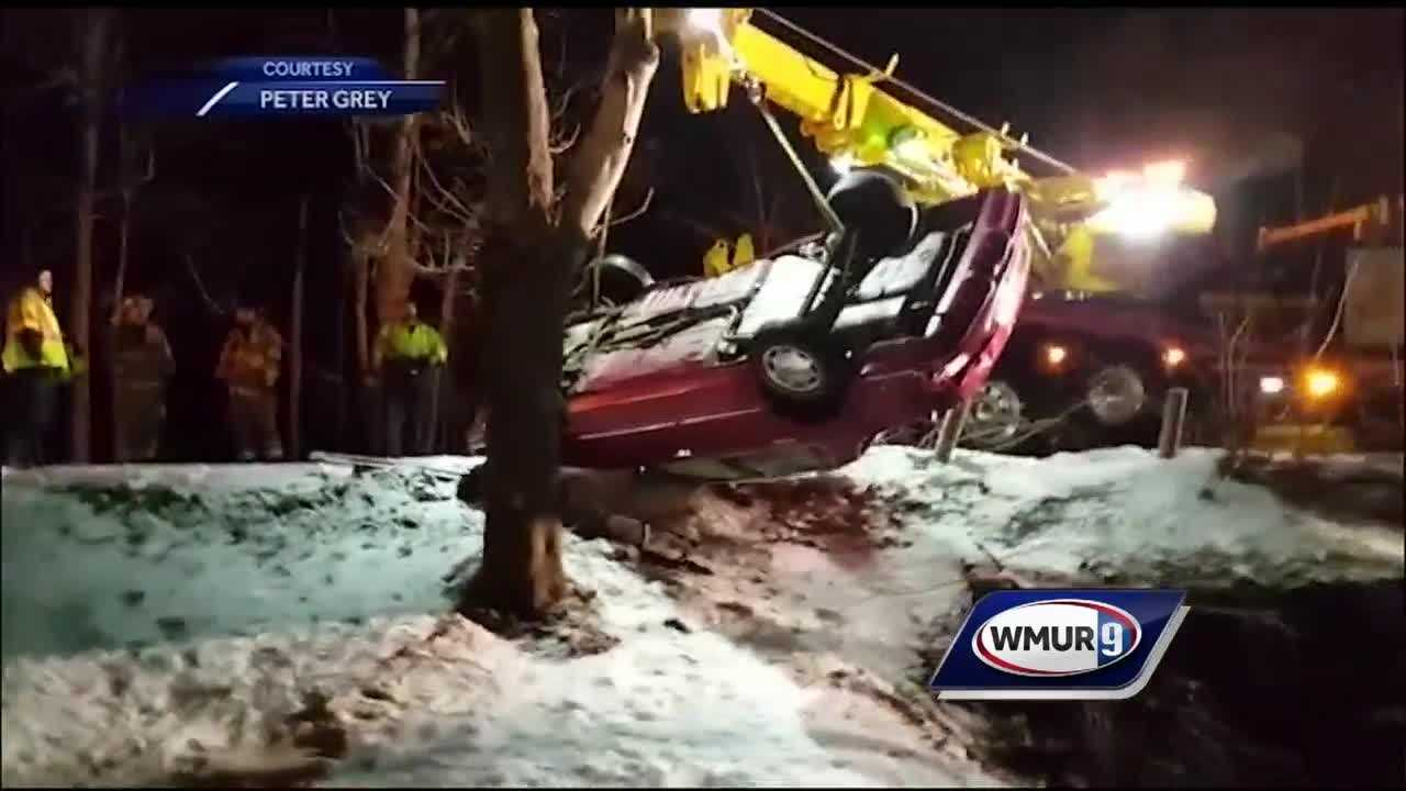 Even though we only got a few inches of snow the timing of it caused several accidents as granite staters commuted home.
