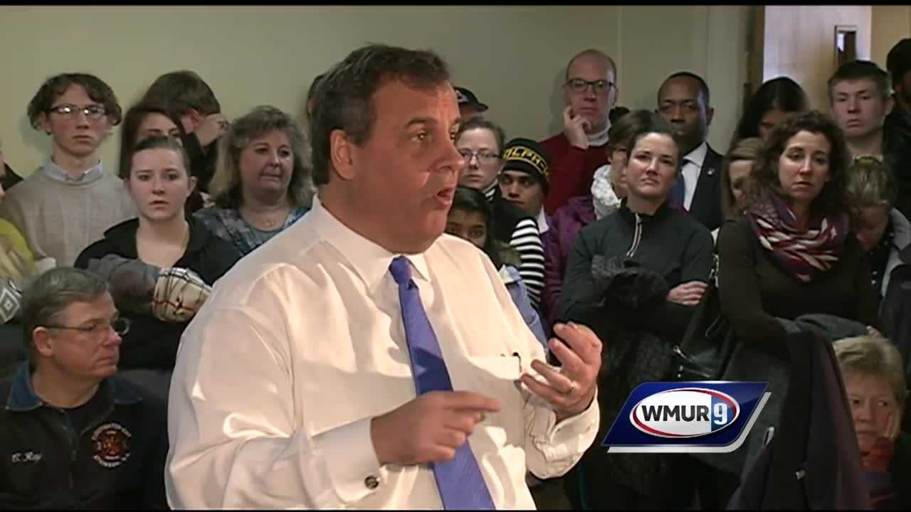 New Jersey Gov. Chris Christie returned to New Hampshire on Wednesday to continue his push for a strong showing in the primary.